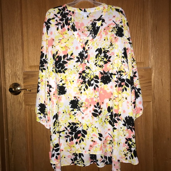 Boutique By Jcpenney Tops Boutique By Jcpenney Floral Plus Size